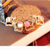 Charming fashion cute baby elephant women Opal statement for party