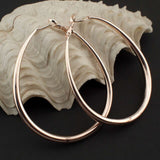 MANILAI Fashion Female Jewelry 65*50mm Big Alloy Hoop Earrings Statement Jewelry For Women Costume Accessories FE043