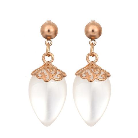 New Luxury Gold Color Shining Big Water Drop Earrings For Women Party