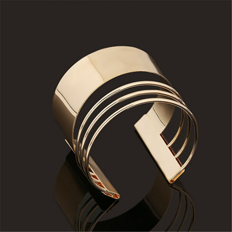 ZOSHI Elegent Alloy Wide Wrap Cuff Bracelets & Bangles Women Costume Statement Jewelry Fashion Open Bangle Bracelets Hot
