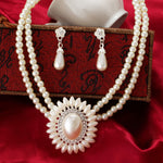 MINHIN Bohemia Imitation Pearl Necklace Earrings Set Dubai African Beads Costume Acessories Women Bridal Wedding Jewelry Sets