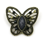 Antique Gold Color Crystal and Resin Stone Butterfly Brooch Pins for Women in Assorted Colors