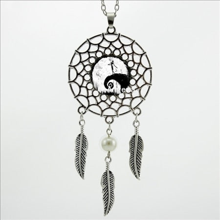 2017 Trendy Style Nightmare Before Christmas Necklace Nightmare Before Christmas Pendant Dream Catcher Necklace DC-00280