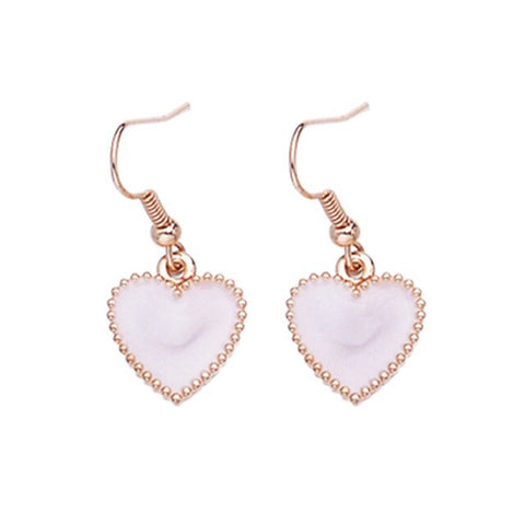 EK421 New Fashion Cute Heart Drop Earrings for Women Jewelry Mujer Boucle d'oreille Simple LOVE Dangle Brincos Girl Gift bijoux