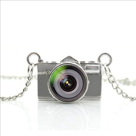 2017 New Arrived DIY Best Lens Necklace Glass Picture Pendant Jewelry Black Camera Pendant Photography Necklace NCA-02