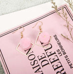Hot Sell Personality fashion Retro temperament wildflowers irregular petals asymmetric tassel female earrings jewelry 005