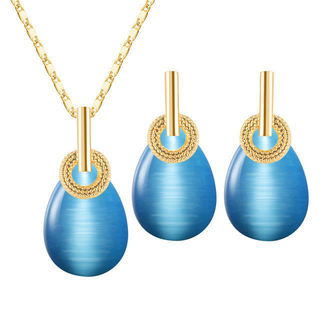 CWEEL African Beads Jewelry Set Necklace Earrings Jewelry Sets For Women Jewellery Elegant Party Gift Fashion Costume Jewelery