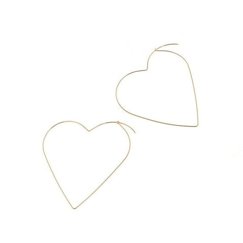 The New Fashion Personality Exaggerated Sexy Tide Female Earrings Love Big Heart Empty Earrings Jewelry Drop Earrings Brincos