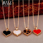 Fashion Vintage 4 colors Heart Pendants Necklace