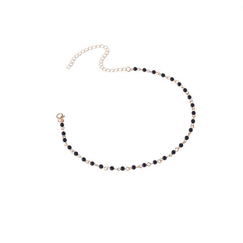 Trendy Acrylic Beads Choker Necklace Fashion Neck Collar for Female Statement Necklace Jewelry