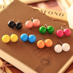 ES002  Multicolor Stud Earrings For Women Candy Color Brincos Fashion Jewelry Earing 2018 HOT Selling