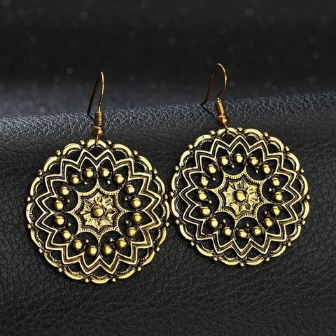 Vintage Ethnic Flower Earrings