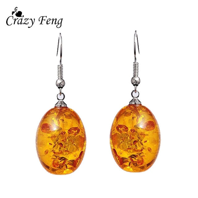 Clear Transparent Ball Earrings Gold Color Sequin Dangle Hanging Earrings for Women Fashion Dried Flower Jewelry Wedding Earings