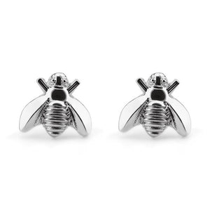 1Pair Cute Silver/Gold Color Honey Bee Earrings Tiny Fashion Stud Earrings Insect Fly Bird Honey Cute Creative Bee Stud Earrings