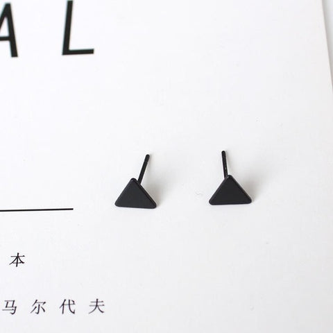 Earrings Fashion Jewelry Simple Mini Triangle Earrings For Women Gift Small Black All-match Stud Earrings Temperament Brincos