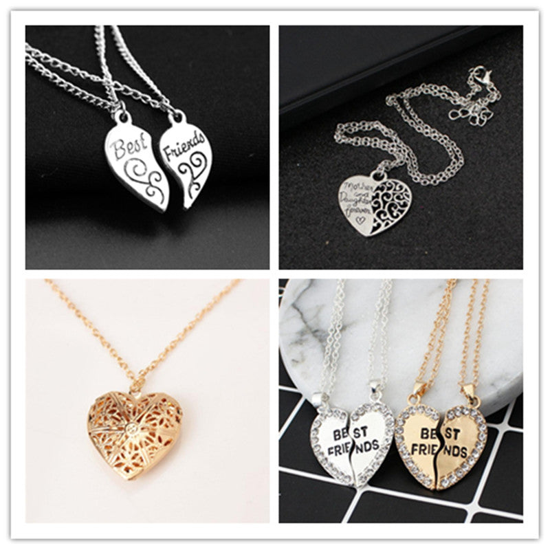 Fashion Heart Shaped Friendship Picture Frame Locket Pendant for Necklace Romantic Fashion Jewelry Nice Gift for girls