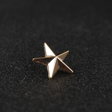 1pcs Men's Shirt Five-pointed Star Collar Nails/fashion Collar Female Brooch Jewelry Accessories