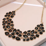 Hesiod Fashion Yellow Green Black White Oil Jewelry Wedding Party Statement Necklace For Women Short Design Chokers Necklace