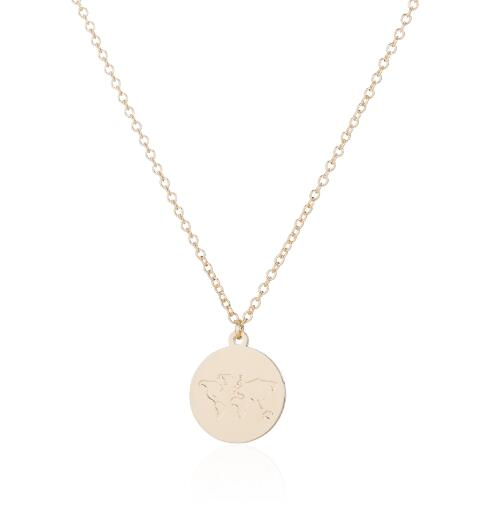 Shuangshuo Round World Map Necklaces & Pendants Geometric Gold Chain Necklace Women Necklace Costume Jewelry Accessories
