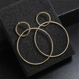 New fashion exaggerated Big Earrings for Women Circle Round Earrings Gold Silver women Jewelry Party Gift