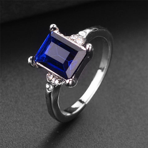 New Square Zircon Engagement Rings For Women Female silver Finger Ring Women Jewelry Wedding Promise Ring For Ladies Gift