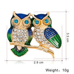 New Natural Animals Brooch Pins Owl Dog Bird In Fashion Men Women's Pins Brooches Costume Jewelry For Cloth Decorations