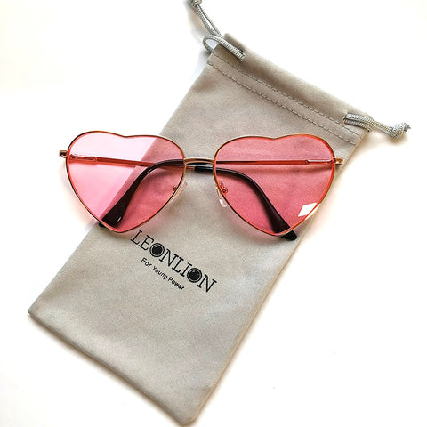 Vintage Candy Color Gradient Heart Sunglasses