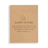 Happy Future Paper Crane Necklace Women Origami Pigeon Pendant Clavicle Chain Statement Choker Necklaces