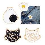 Cat Kitten Enamel Pin Brooch Lapel Pin Coat Badge Fashion Jewelry for Kids Women Cute Women Costume Brooches Cartoon Cat Brooch