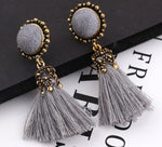 Small Tassel Earrings for Women Fashion Jewelry Bohemian Ball Statement Face Fringed Tiny Drop Earring Female Jewellery Gift