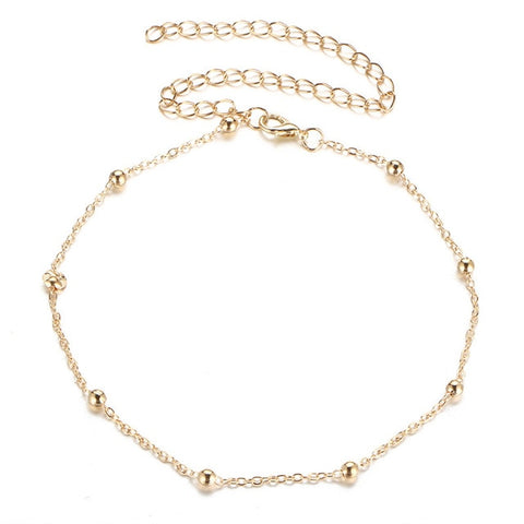 H:HYDE New Simple Design Metal Clavicle Chain Necklace Temperament Gold & Sliver Colors Bead Necklaces For Women Birthday Gift