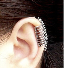 Punk style spine earrings no pierced ear clip bone earrings ear Cuff