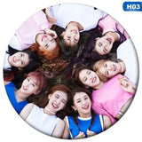 K-POP Korean TWICE New Album YES OR YES 58mm Round Badge Pins Brooches For Clothes Hat Backpack Decoration