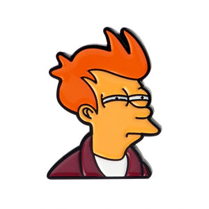 Hot Collection ! Cartoon Cute Futurama Philip J. Fry Addams Family Halloween Let's Hide Ghost Car Duck Enamel Brooches Pins