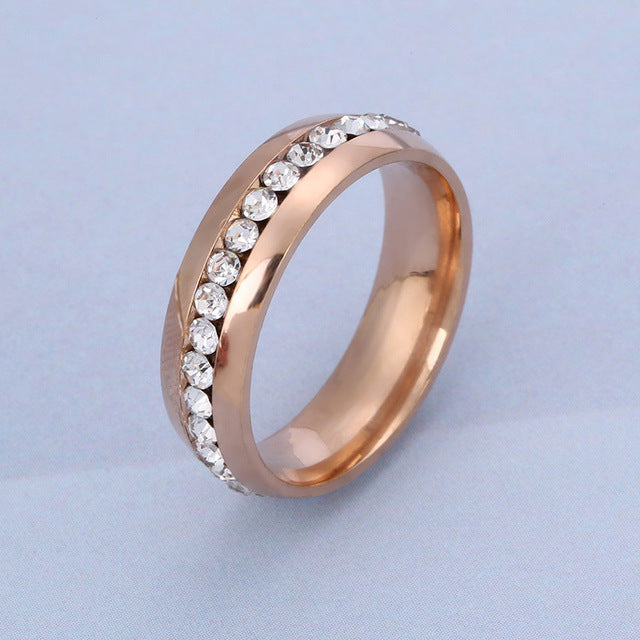 Stainless Steel Rings Of Men And Women Rose Gold Filled Ring Silver Plated  Rings Engagement Ladies Ring Gold For Couple Rings