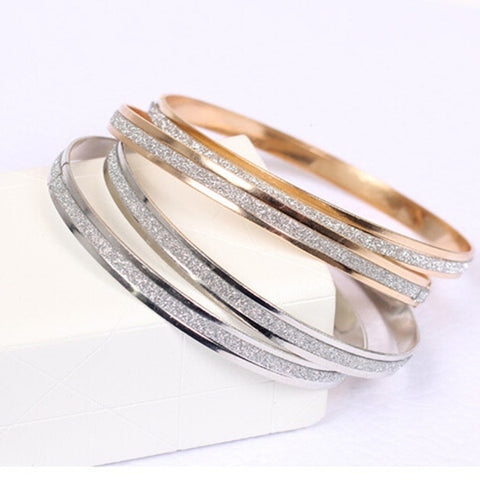 The New 2019 New Korean Fashion Single Round Frosted Rose Gold Bracelet Women