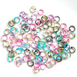 SALE new pait stripe color surgical steel round heart belly button ring tongue barbell earrings labret lip nose stud rings
