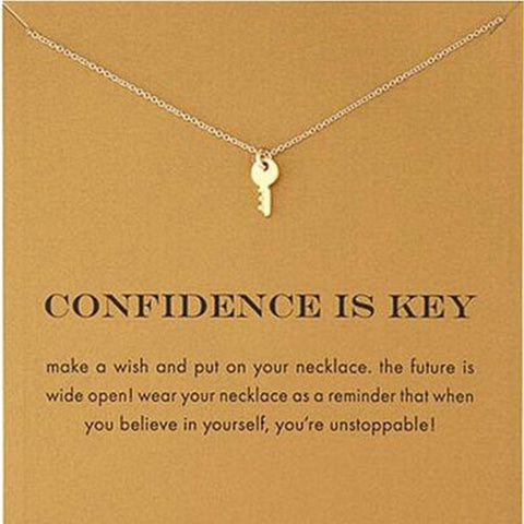 Fashion Key Pendant Necklace For Women Choker Necklaces