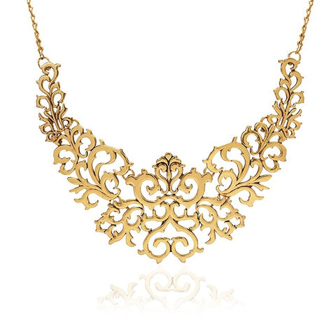 Tocona Trendy Gold Silver Black Hollow Out Heart Flower Shaped Chokers Necklace for Women Charming Collar Necklaces Jewelry 5514