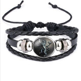 Game of Thrones Round Bracelet Jewelry 9 Family Icon Leather Handchain Bangle