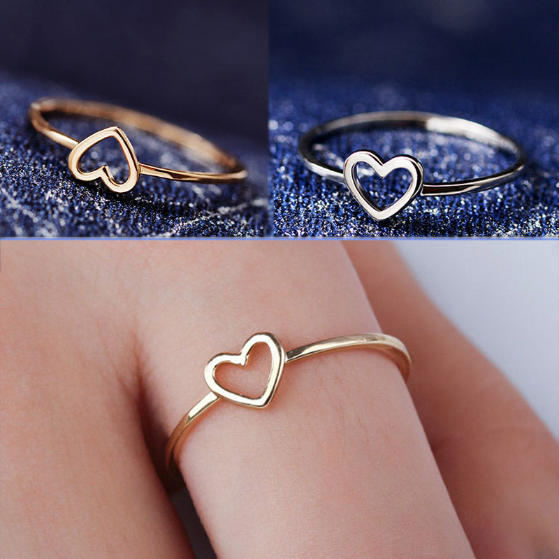 Gold/Silver Beautiful Wedding Couples Heart 1PC Ring Bride Size6 7 8 9 10 Scarf Accessories Valentines Gift