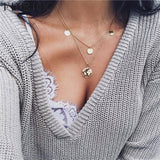 Fashion Gold Color Globe Earth World Map Pendant Necklace Simple Layered Necklace Wanderlust Travel Necklaces Jewelry