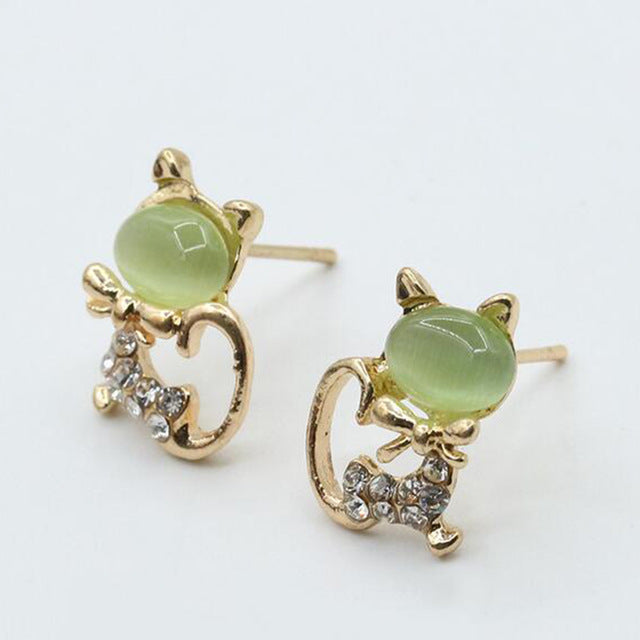 ZN Hot sale Fashion lovely red drops of glaze asymmetric Apple crystal stud earrings for women