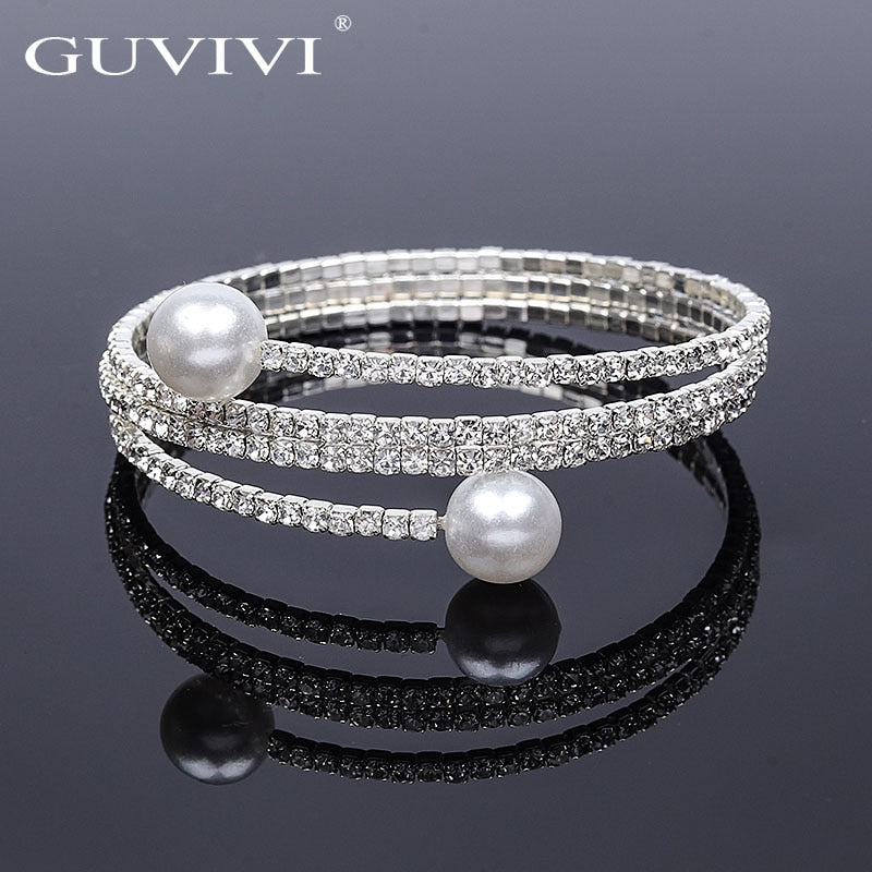Trendy 2019 New Rhinestone Stretch Women Bracelets Engagement Jewelry Bling Crystal Adjustable Fantastic Pulseras Accessories