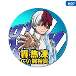 1pcs Anime My Hero Academia Cosplay Badge Cartoon No Hero Academia Brooch Pins Collection Bags Badges For Backpacks