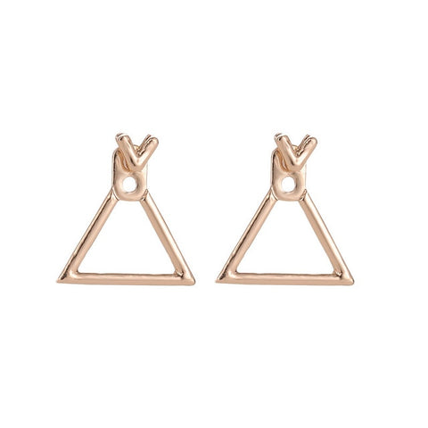 MYHFKK fashion simple metal triangle girl earrings female jewelry creative earrings minimalist geometric earrings EH072