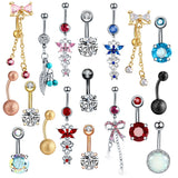 1PC Steel Belly Button Rings Piercings Belly Dangle Navel Piercing Nombril Piercing Oreja Ear Piercings Body Jewelry Pircings