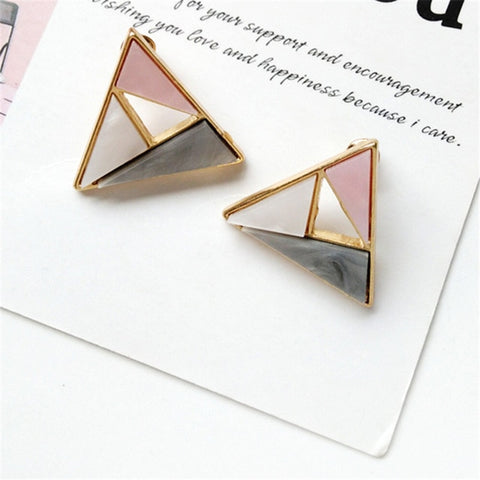 Colorful Triangle shaped Earrings
