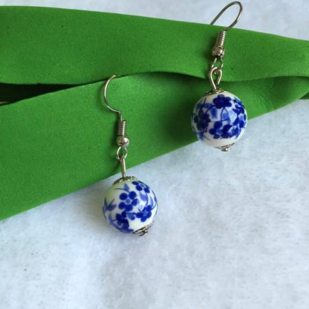 Ceramic multi-color earrings