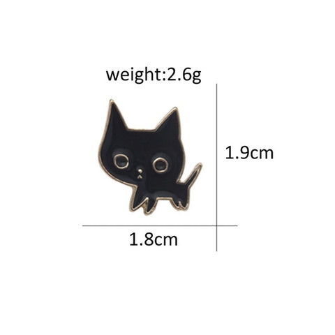 Charm 9 Styles Cute Cartoon Cats Pins Metal Brooches for Women Cat Couple Enamel pin Denim Jackets Shirt Bag Badge Men kids Gift